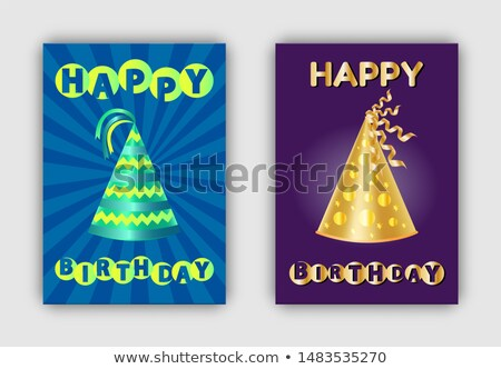 B-day Paper Caps Decor Elements Abstract Patterns Stock photo © robuart
