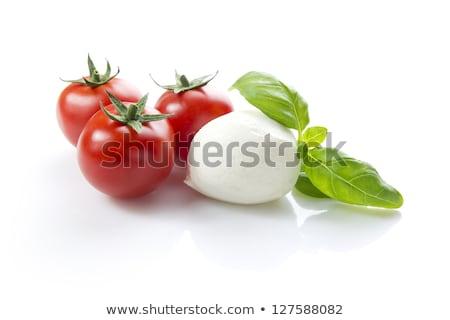 помидоры черри моцарелла базилик листьев Ингредиенты Капрезе Сток-фото © maxsol7