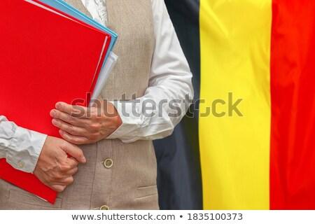 Dobrador bandeira Bélgica arquivos isolado branco Foto stock © MikhailMishchenko