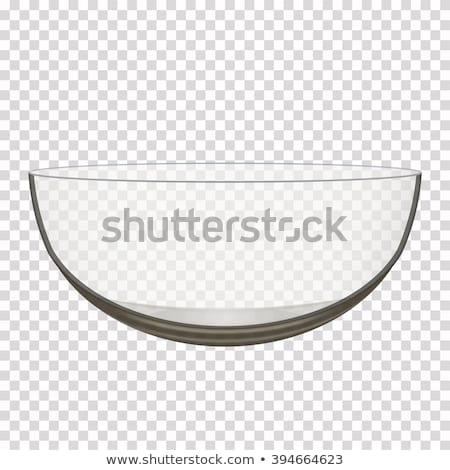 vítreo · tigela · isolado · branco · restaurante · azul - foto stock © make