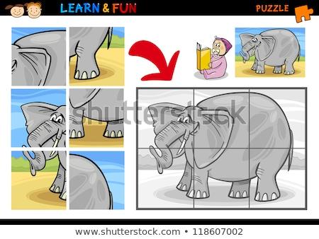 vahşi · hayvanlar · oyun · karikatür · örnek · eğitim - stok fotoğraf © izakowski