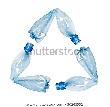 blue bottles with water isolated on the white background with cl Stock photo © kayros