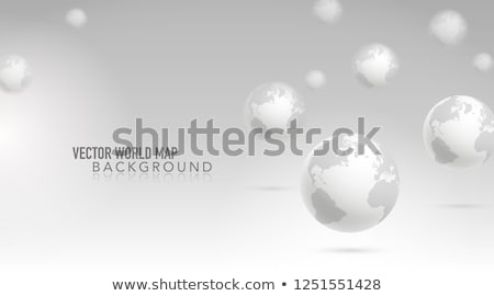 world map with circular particles background Stock photo © SArts