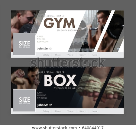 boxing vector design elements stock photo © netkov1