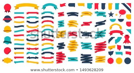 szalagok · bannerek · boldog · zászló · arany · retro - stock fotó © lemony