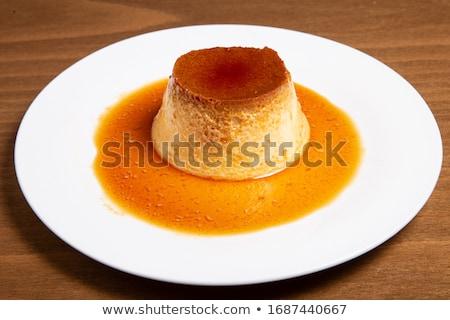 Domowej roboty karmel krem świeże mięty Zdjęcia stock © mpessaris