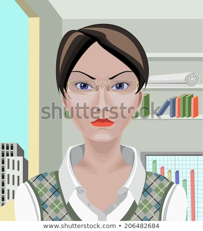 Serious busy young lady with short hair Stock photo © pressmaster