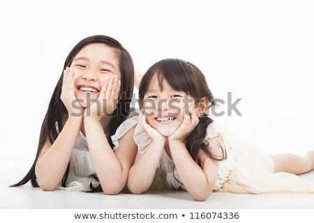 jongen · meisje · blij · gezicht · illustratie · gelukkig · kind - stockfoto © bluering
