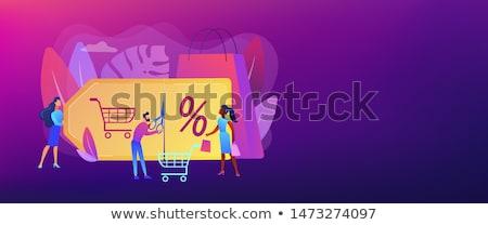 Program szalag fejléc vásárló attrakció marketing Stock fotó © RAStudio