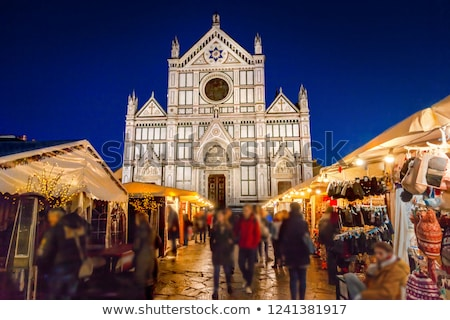 Bazilika akşam Floransa İtalya Stok fotoğraf © borisb17