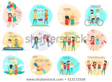 друзей навсегда дружбы день набор Сток-фото © robuart