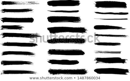 Black vector art brush strokes set isolated Stock photo © blumer1979
