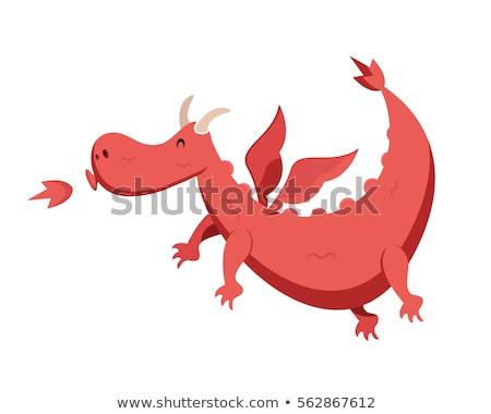 cartoon dragon funny fictional character Stock photo © izakowski