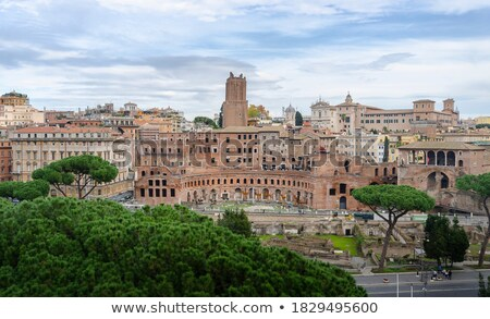 piazza foro traiano rome italy stock photo © neirfy