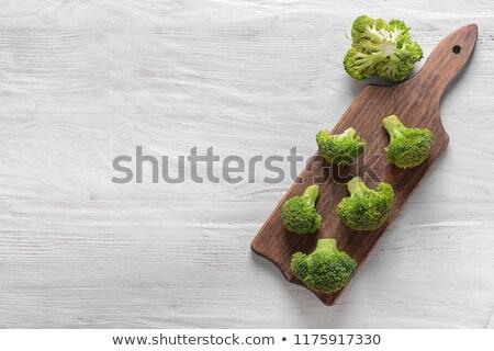 新鮮な ブロッコリー 木製のテーブル 新鮮な野菜 ツリー ストックフォト © galitskaya