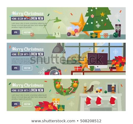 Navidad horizontal banner sitio web vacaciones Foto stock © ikopylov
