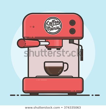 Stok fotoğraf: Sıcak · içecek · Retro · vektör · makine