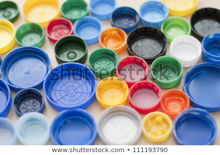 Colorful plastic waste bottles in rainbow colors Stock photo © lightkeeper