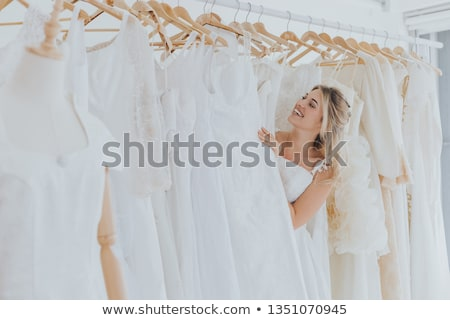 Oblubienicy sukienka boutique kobiet Zdjęcia stock © HighwayStarz