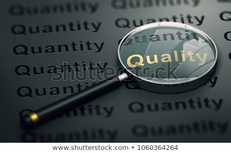 Quality Over Quantity Scale Concept Stock photo © ivelin