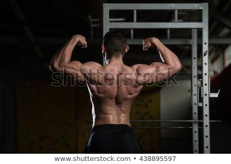 ボディービルダー リア ダブル 上腕二頭筋 ボディ ストックフォト © Jasminko