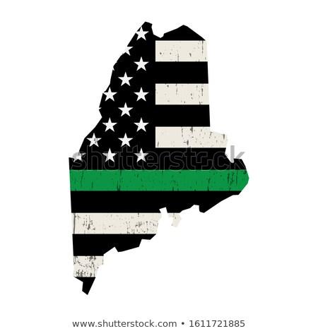 Maine askeri destek amerikan bayrağı örnek biçim Stok fotoğraf © enterlinedesign