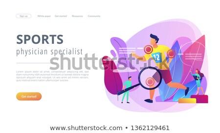 スポーツ 医療 サービス アプリ インターフェース テンプレート ストックフォト © RAStudio