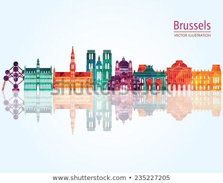 Skicc ház Brüsszel Belgium épület roi Stock fotó © ShustrikS