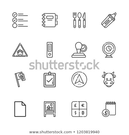 cow check icon vector outline illustration Stock photo © pikepicture