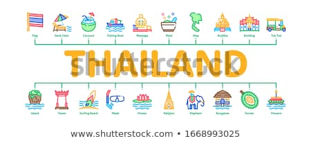 Thailand National Minimal Infographic Banner Vector Stock photo © pikepicture
