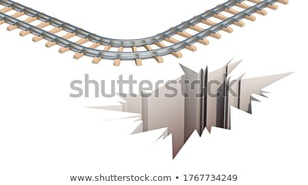 Spoorweg ontsnappen gat 3D 3d render illustratie Stockfoto © djmilic