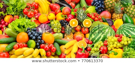 Fresh Juicy Collage Of Fruits And Vegetables Stockfoto © Serg64