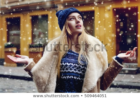 fashionable young woman in winter outfit stock photo © lithian
