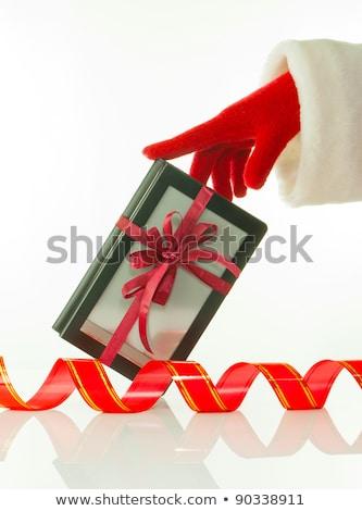 Mano rojo guante electrónico libro lector Foto stock © AndreyKr