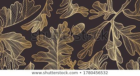 Geel · esdoorn · eiken · bladeren · najaar · vallen - stockfoto © carenas1