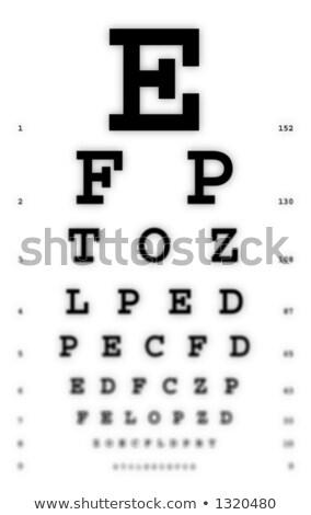 Médico vista olho traçar vidro Foto stock © ozaiachin