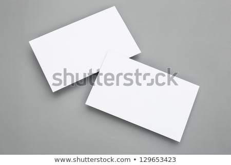 Stockfoto: Businessman In Office Showing A Blank Business Card