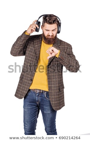 An angry man listening to music Stock photo © photography33