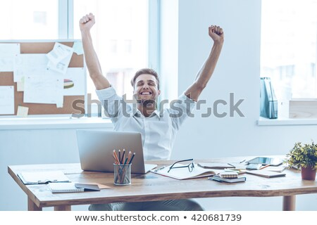 Workers sitting with arms outstretched Stock photo © photography33