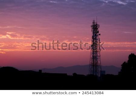 связь · башни · закат · блюд · бизнеса · небе - Сток-фото © benkrut