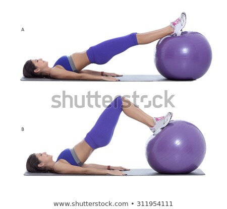 Woman exercising on a Swiss ball Stock photo © photography33