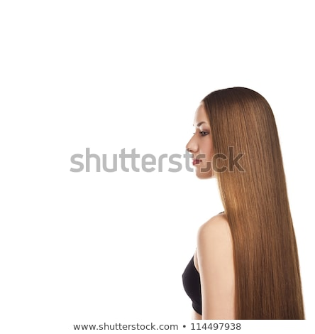 beautiful woman with magnificent hair blown Stock photo © feedough