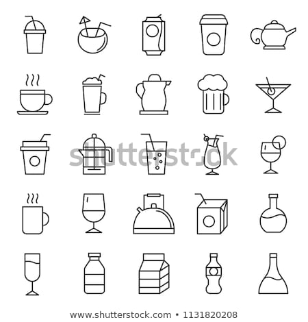 Stock photo: Drinking water in bootles and cup