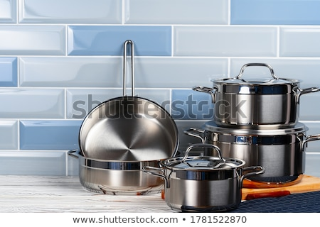Foto stock: Metal · cocina · cocinar · olla · aislado