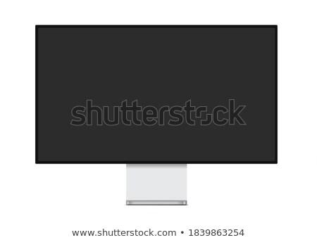 Profi szélesvásznú monitor fehér képernyő internet Stock fotó © ozaiachin