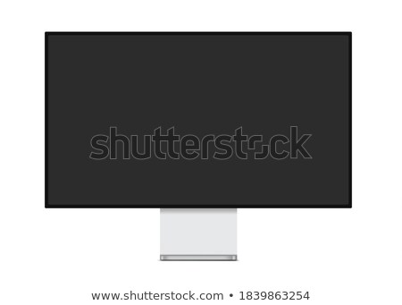Professionele breedbeeld monitor witte scherm internet Stockfoto © ozaiachin