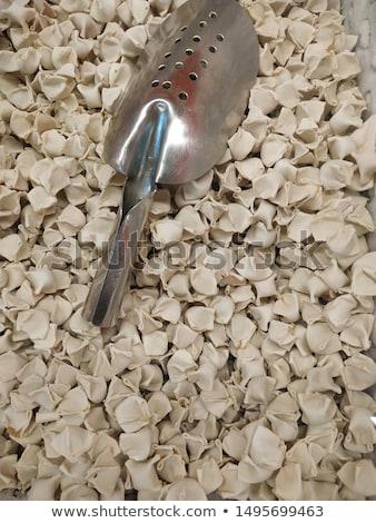 Surowy ravioli biały żywności białe tło kuchnia Zdjęcia stock © FOKA