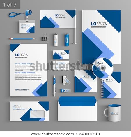技術 青 文房具 セット 実例 ストックフォト © malexandric