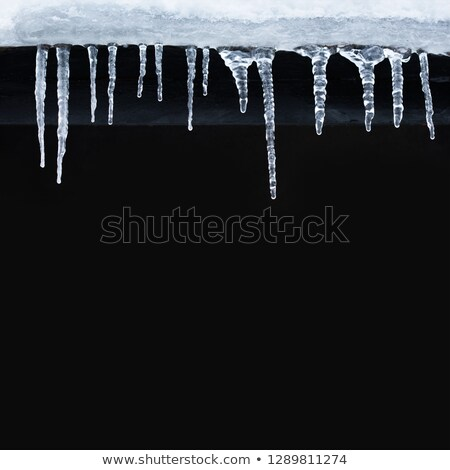 icicles on black Stock photo © drizzd