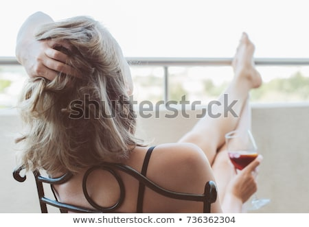 Woman drinking wine alone Stock photo © photography33
